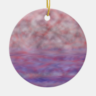 Red moon blue water onament ceramic ornament