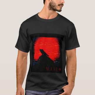 Red Moon, Howling Wolf T-Shirt