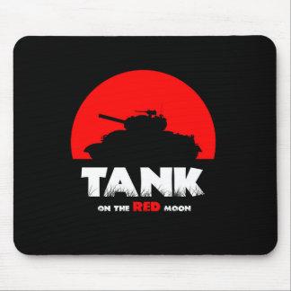 Red Moon Tank Mousepad