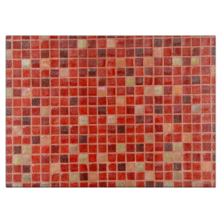 Red Mosaic Tile Background Boards