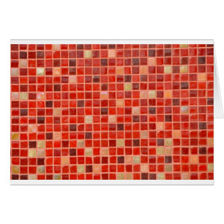 Red Mosaic Tile Background Card