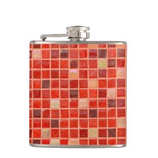 Red Mosaic Tile Background Flasks