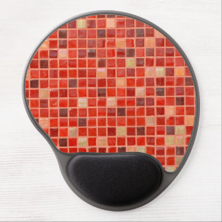 Red Mosaic Tile Background Gel Mouse Pad