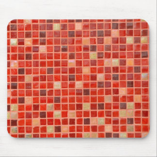 Red Mosaic Tile Background Mouse Pad