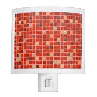 Red Mosaic Tile Background Nite Lites