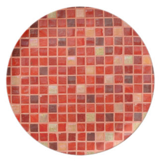 Red Mosaic Tile Background Plate