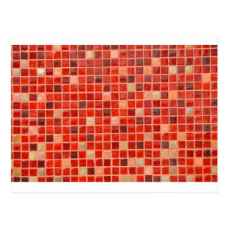 Red Mosaic Tile Background Postcard