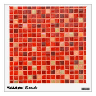 Red Mosaic Tile Background Wall Sticker