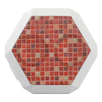 Red Mosaic Tile Background White Bluetooth Speaker