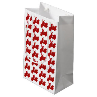 Red Motor Bike Small Gift Bag