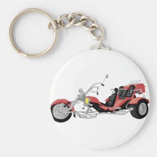 red motorcycle trike keychain