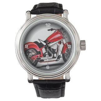 Red motorcycle watch