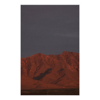 Red Mountain at Twilight Stationery