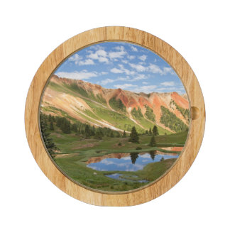 Red Mountain Reflection Rectangular Cheeseboard