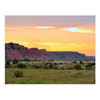 Red Mountain Sunset Postcard