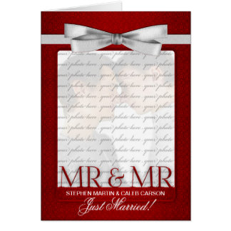 Red Mr. & Mr. Gay Wedding Reception Invitation