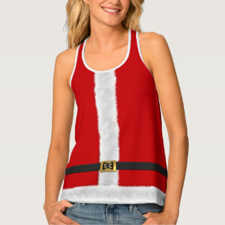 Red Mrs Santa Xmas Holiday Custom Festive Tank Top