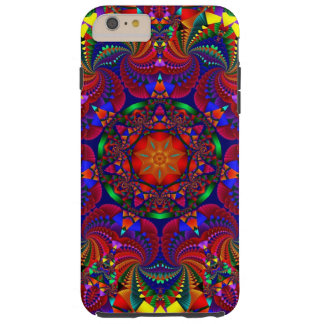 Red Multi Colored Kaleidoscope Fractal iPhone Case