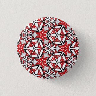Red Mushroom Badge 1 Inch Round Button