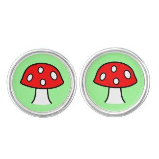 Red Mushroom Cufflinks