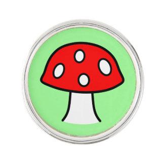 Red Mushroom Lapel Pin