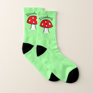 Red Mushroom Name Socks (Small) 1