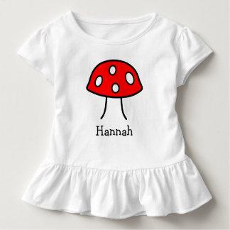 Red Mushroom Toddler Ruffle T-Shirt