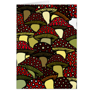 Red Mushrooms Greeting Card
