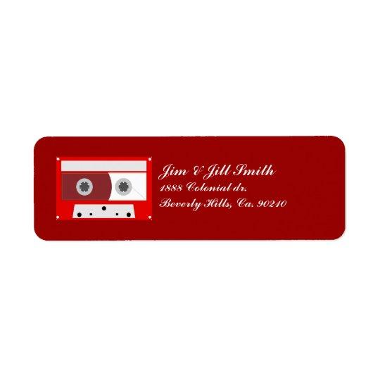 Red Music Cassette Tape Set