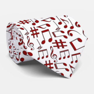 RED  MUSIC NOTES-1 TIE