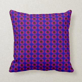 Red music speaker pattern throw pillow