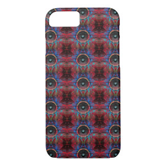 Red music speakers on a cracked wall pattern Case-Mate iPhone case