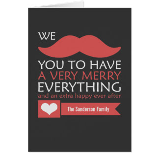 Red Mustache Christmas Greeting Card