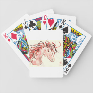 Red Mustang Bicycle Playing Cards