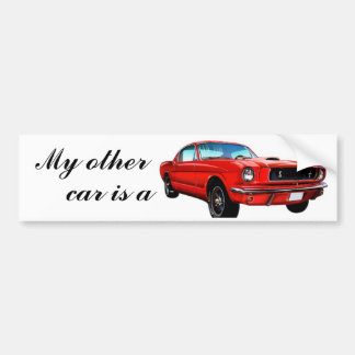 Red Mustang Bumper Sticker