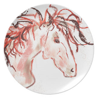 Red Mustang Plate