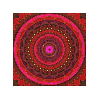 Red mystic mandala canvas print