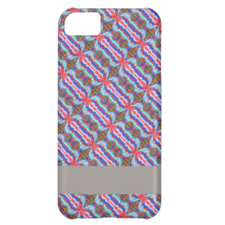 Red n Blue Light Sparkle Filament Pattern iPhone 5C Cases