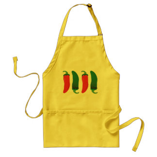Red N Green Hot Peppers Standard Apron
