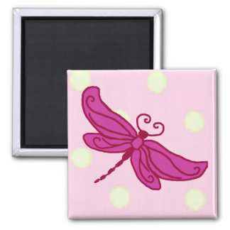 Red n Pink Dragonfly magnet