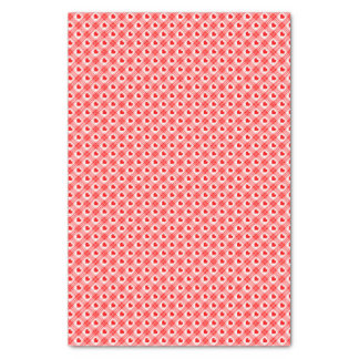Red n White Gingham Plaid Red Hearts Tissue Paper