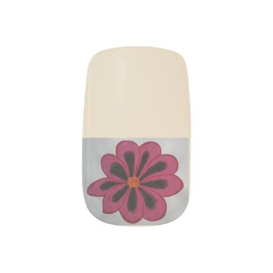 Red nails minx nail art