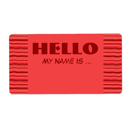 red  name badge