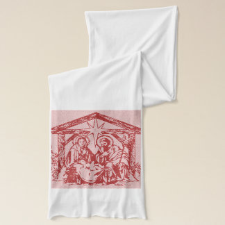 Red Nativity Scarf