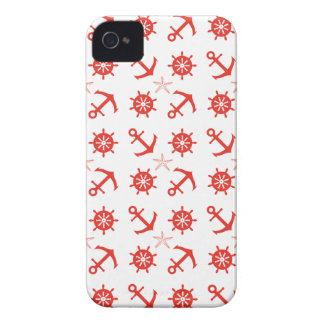 Red nautical pattern Case-Mate iPhone 4 case
