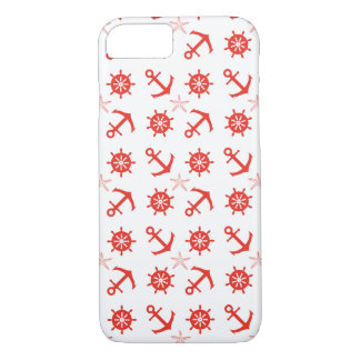Red nautical pattern iPhone 8/7 case