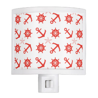 Red nautical pattern nite lite