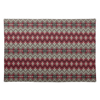 Red Navajo Abstract Placemat