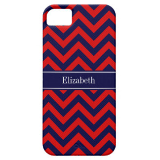 Red, Navy Blue LG Chevron Navy Blue Name Monogram iPhone 5 Cover