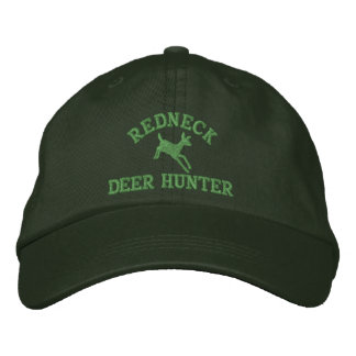 Red neck deer hunting embroidered baseball cap